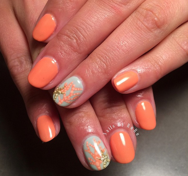 Coral Reef - Nail Art Inspiration Straight From Instagram - Livingly