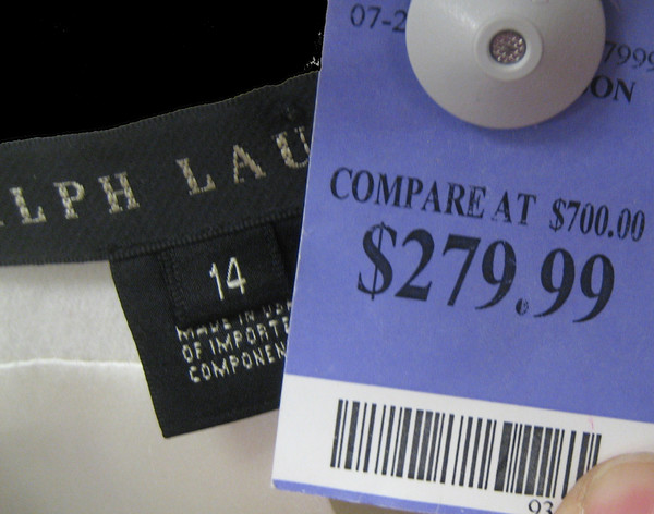 "Don't get suckered into believing the ""compare at"" prices."