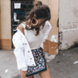 White Denim + Sequins