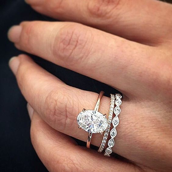 Big and Bold The Most Popular Engagement Wedding Ring Stacks on