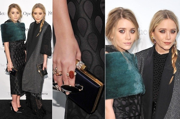 Look of the Day: Mary-Kate and Ashley Olsen in Yves Saint ...