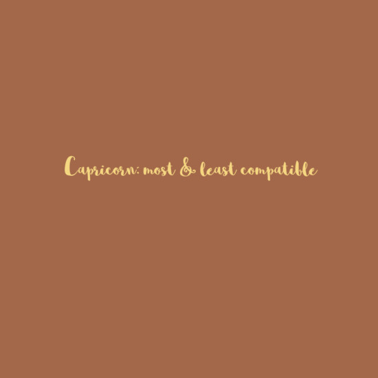 Capricorn: Most & Least Compatible