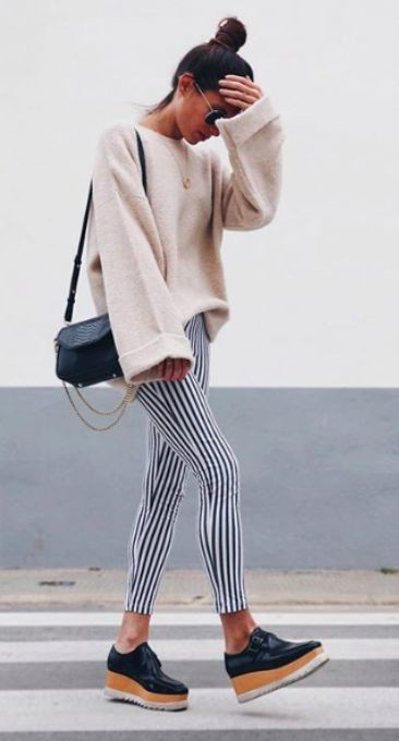 With Platform Oxfords Unique Ways To Wear Bell Sleeves