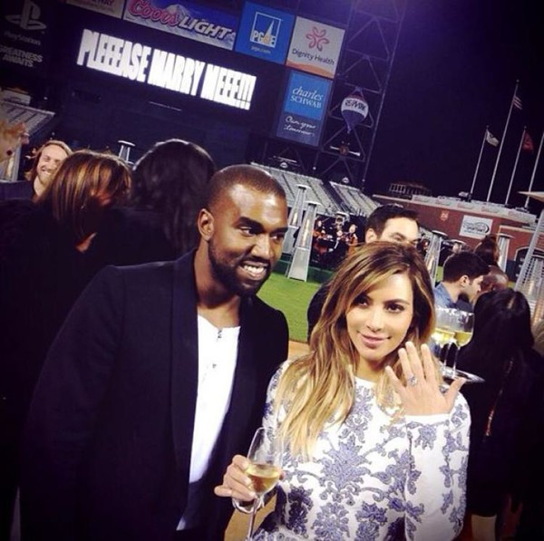 Kanye West proposed to Kim Kardashian with an orchestra and fireworks.