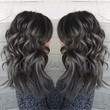 Pewter and Charcoal Grey Curls