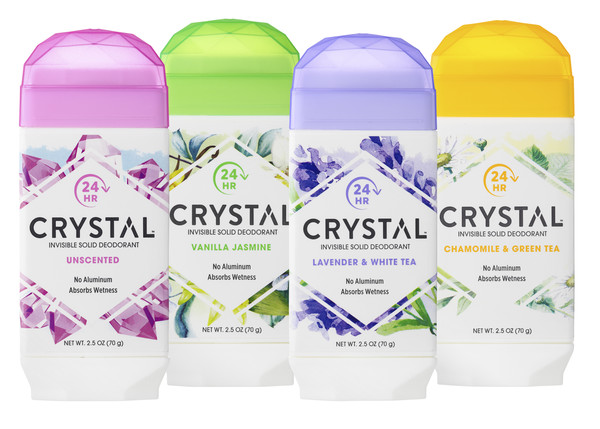 CRYSTAL Invisible Solid Deodorant Sticks