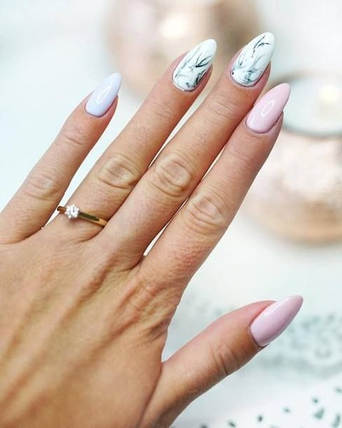 Marble Pastel Mix It Up With These Mismatched Nail