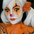 Orange And Black Clown Makeup
