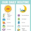 Outline the daily routine