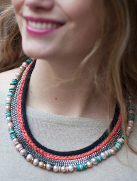 DIY Mixed Media Collar Necklace