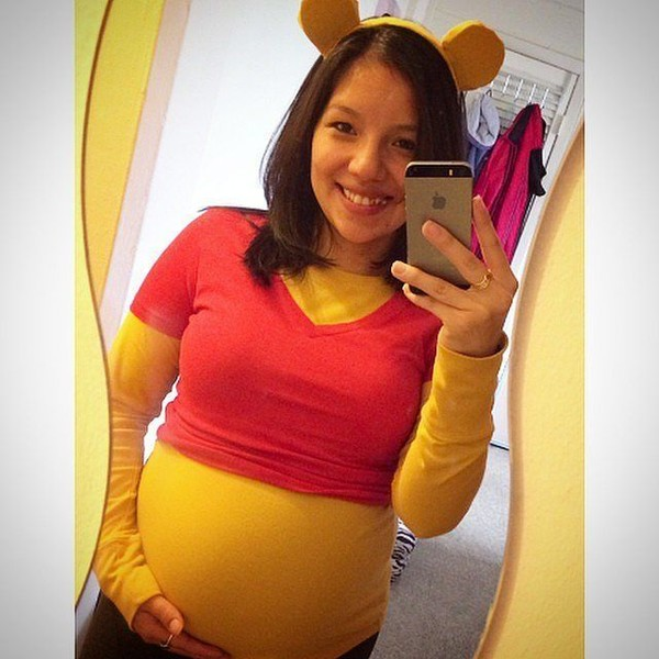 26d0cde1faf9a Easy Maternity Halloween Costumes to Dress Up Your Bump · Winnie The Pooh  Costume