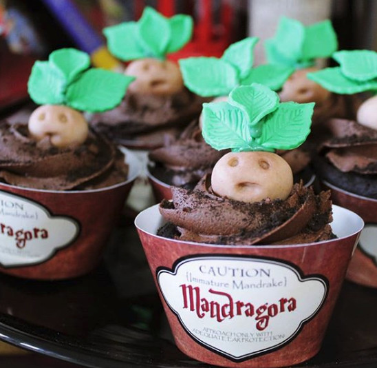 Mandrake Baby Cupcakes How To Throw A Harry Potter Themed
