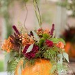 Pumpkins can double as stunning centerpieces.