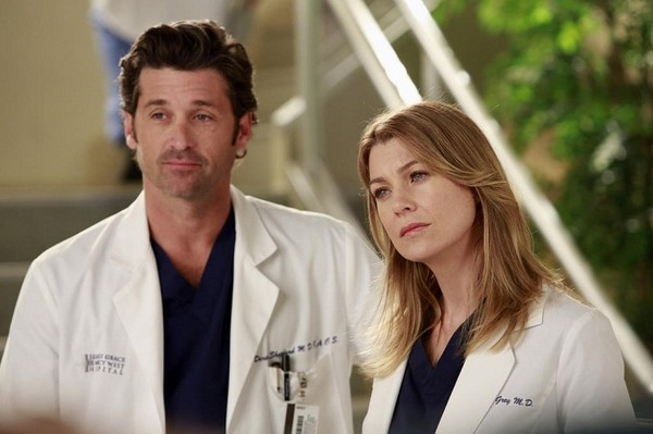 Meredith and Derek on 'Grey's Anatomy'