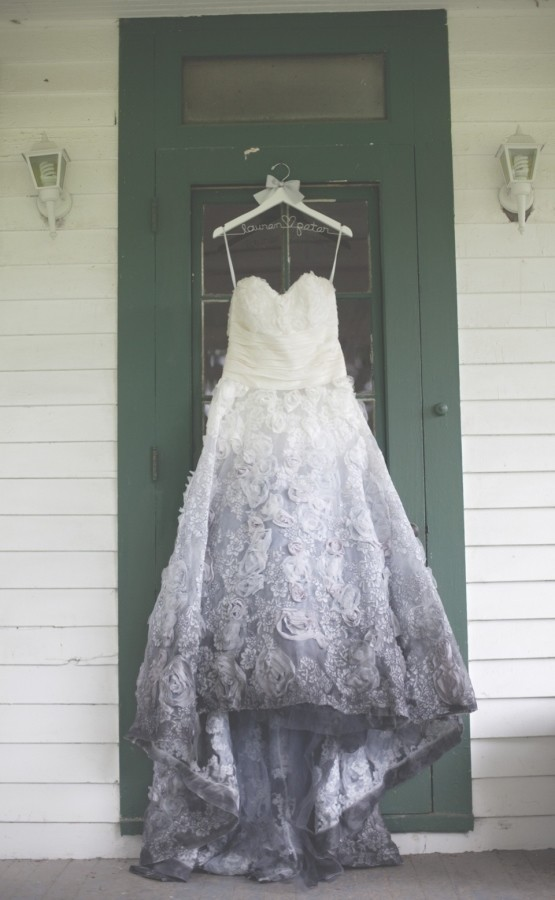 Charcoal Touch Stunning Ombre Wedding Dresses Livingly