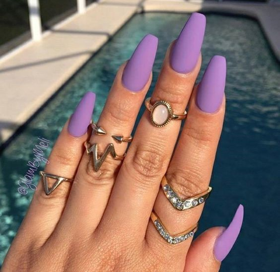 Matte Lilac These Valentine S Day Nails Are Sultry And Sweet