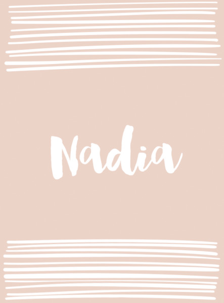 Nadia - Cool Baby Names That Aren't Super Popular - Livingly