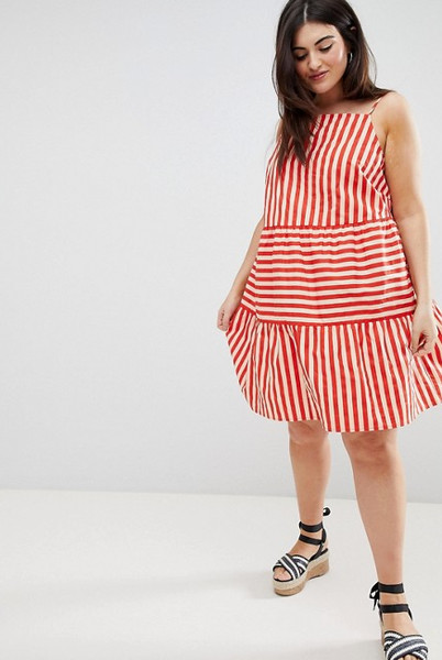 Tiered Striped Sundress