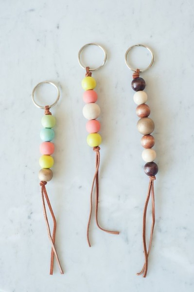 DIY Wooden Bead Keychain
