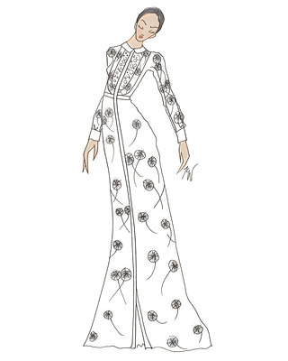 Amber Heard's Valentino Gown - Illustrated