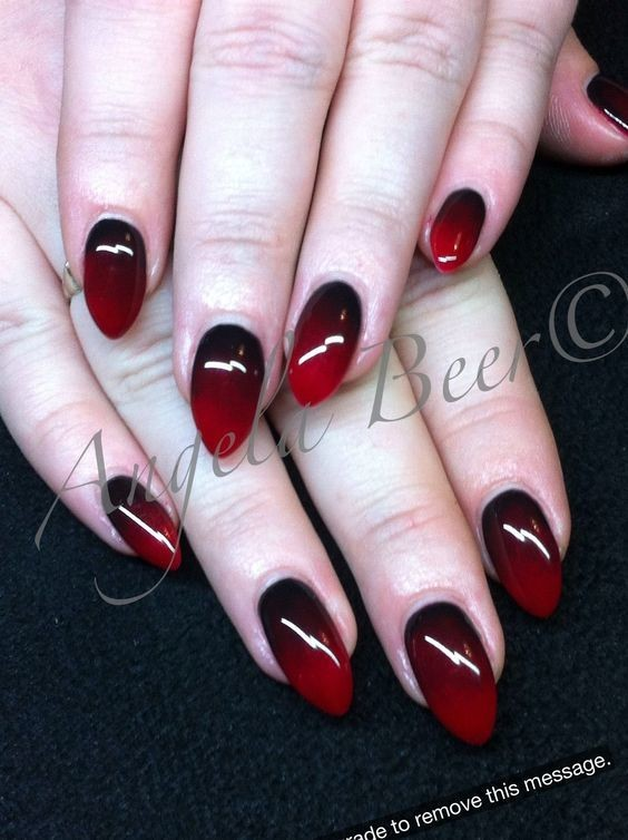 Blood Red Drama - Halloween Nails So Cool They'll Give You ...