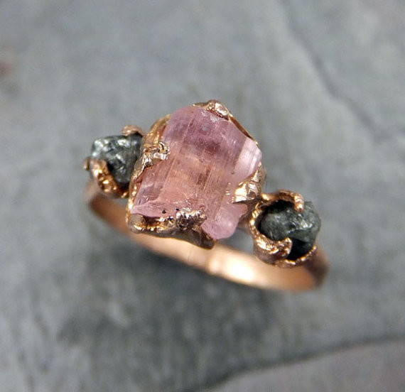 Raw Pink Tourmaline Diamond