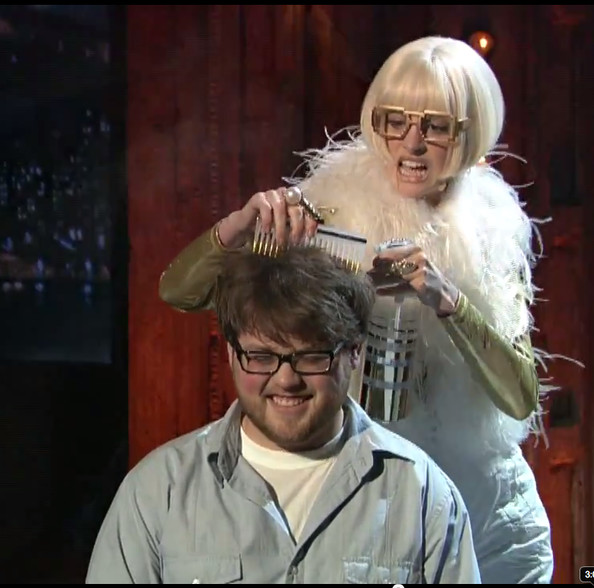 668018e3247 Watch  Anne Hathaway Gives this Poor Guy a Makeover on Jimmy Fallon ...