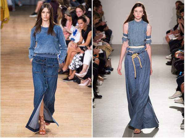 How To Wear A Long Denim Skirt - Redskirtz