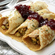 Savory Turkey & Stuffing Crepes