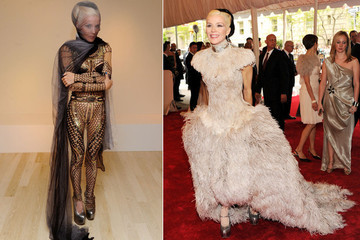 Daphne Guinness Dressed for the Met Ball at Barneys