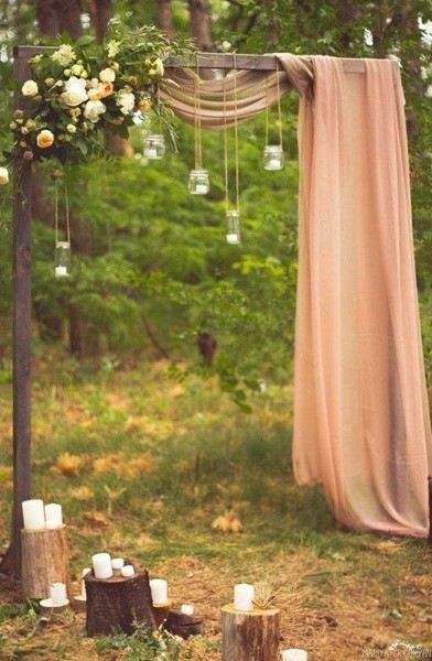 Bohemian Outdoor Candle Idea