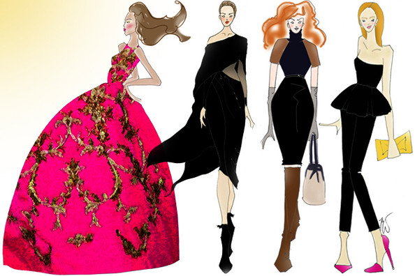 The Best Looks From NYFW Fall 2013 Illustrated