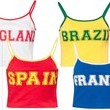 Missguided World Cup Fan Girl Crop Tops