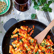 Vegan Rigatoni with Saffron