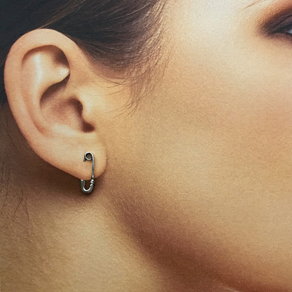Dainty Safety Pin Earring