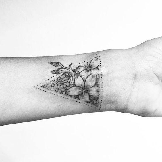 Triangulated dainty wrist tattoos for women livingly for Delicate wrist tattoo designs