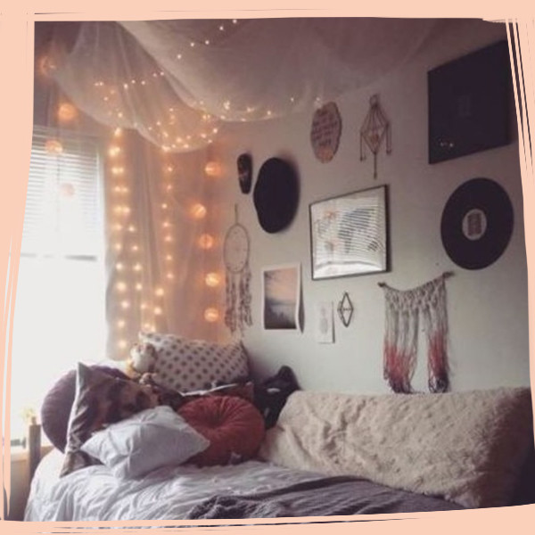 Diy ideas that 39 ll make your dorm room feel like home for Dorm room decor quiz