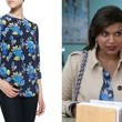 Mindy Kaling's Blue Floral-Print Blouse on 'The Mindy Project'