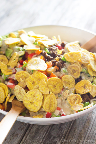 Whip Up A Taco Salad With Creamy Cilantro Dressing