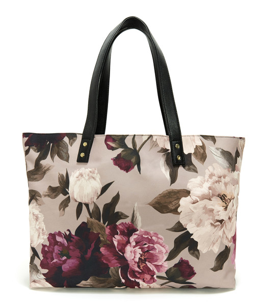 Lulu Dharma Peony Midnight Garden Floral Tote