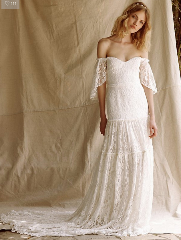 The monrose gown by free people dreamy boho wedding for How to get a free wedding dress
