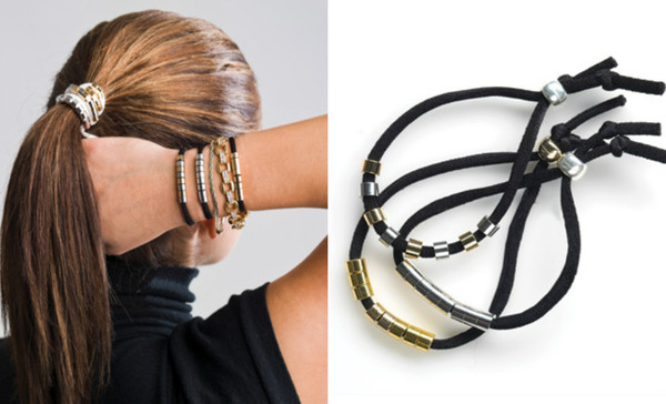 A Beaded Hair Tie That Doubles As Bracelet
