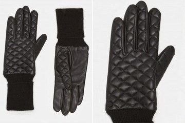 Quilted Leather Gloves For Christmas