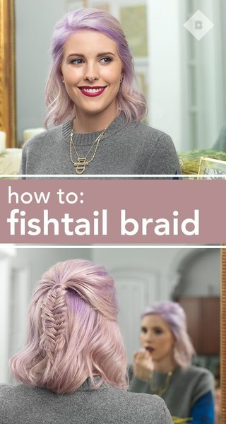 Pastel Fishtail Braid