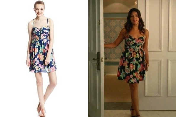 Gina Rodriguez's Floral-Print Day Dress on 'Jane the Virgin'