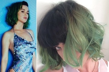 Check Out Katy Perry's New Green Hair
