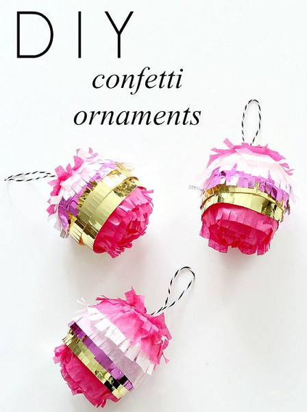 DIY Confetti Ornaments