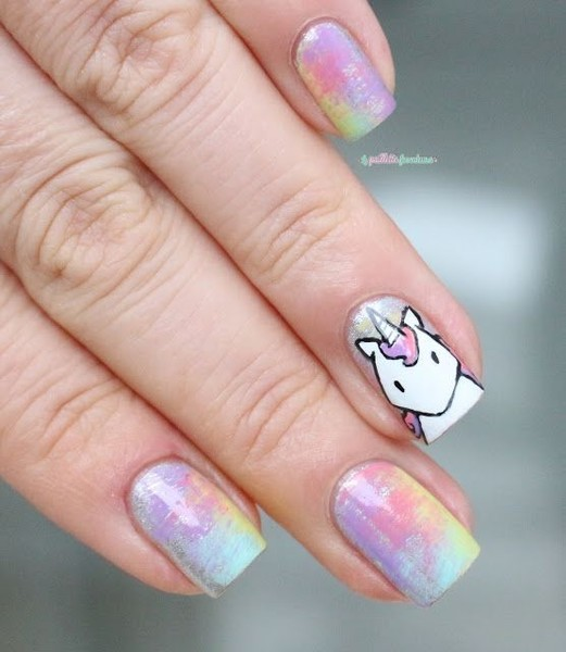 Cosmic Unicorn - Cosmic Unicorn - These Cartoon Nail Art Designs Are A Total Blast
