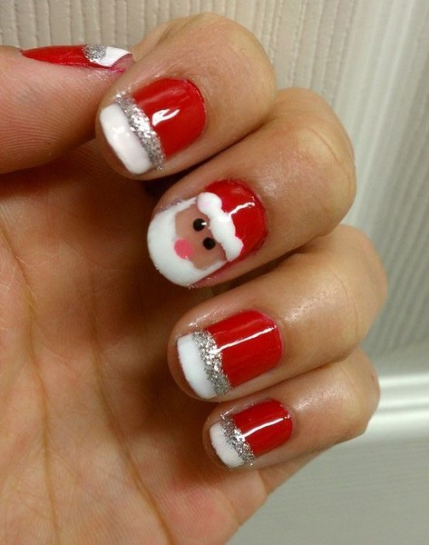 Santa nails give yourself an early christmas gift with one of give yourself an early christmas gift with one of these festive nail designs solutioingenieria Image collections