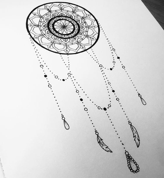 Dreamcatcher Dotwork - Prettiest Mandala Tattoos on ...